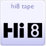 Hi8 camcorder tapes footage